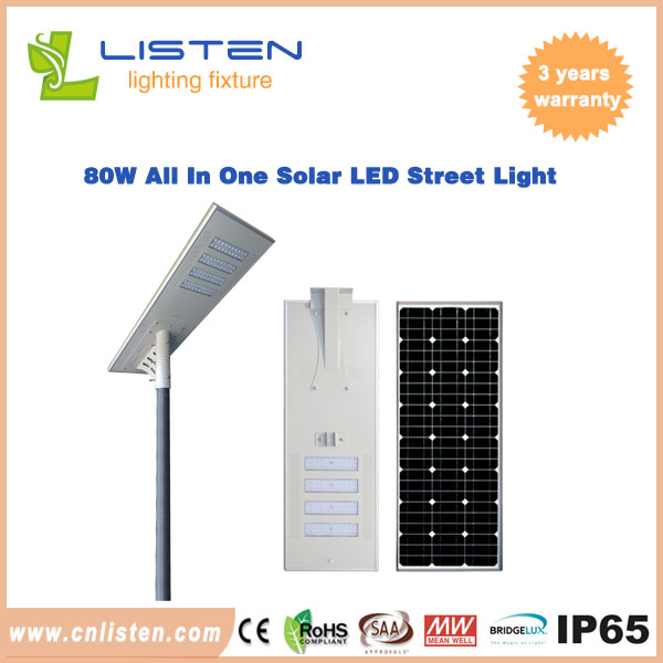 80W/100W AIO Solar LED Street Light