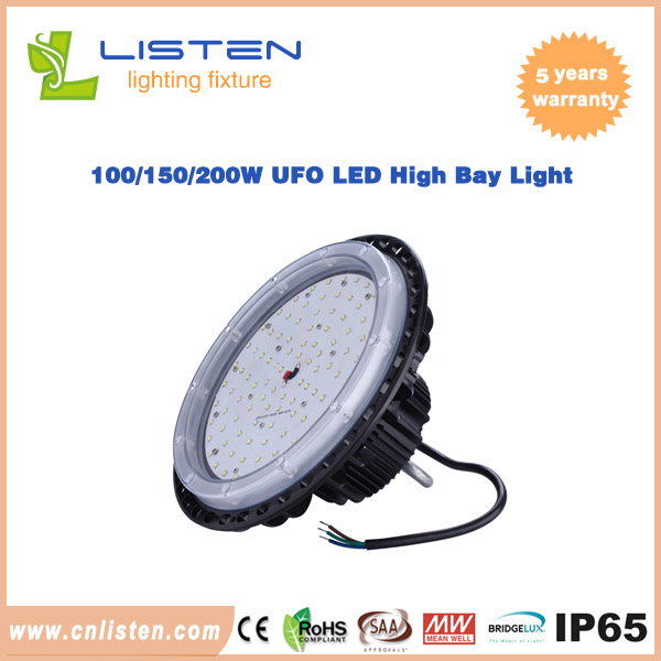 100W/150W/200W UFO LED High Bay Light With Meanwell Driver Philip3030 led chip