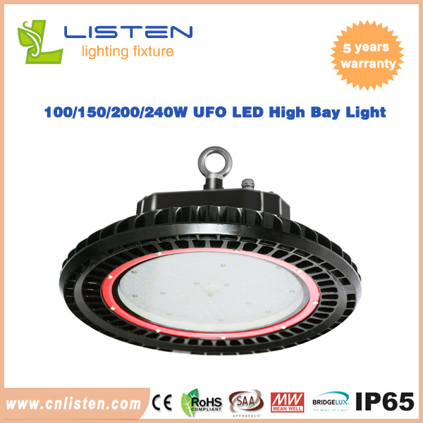 AC100-277V UFO LED High Bay Light With Meanwell Driver